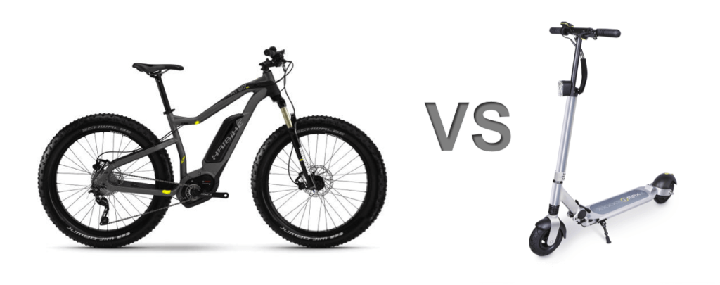 electric bike vs electric scooter