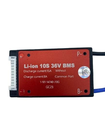 10S 36V 15ah BMS Lityum iyon Pil Paketi için